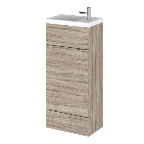Elite Driftwood 400mm Compact Vanity Unit & Basin
